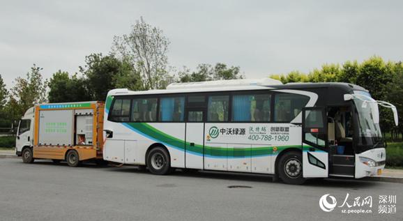 高速大巴车-105台纯电动大巴助力 绿色全运