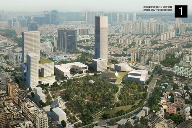研究院联合体设计的7号设计方案,深圳市都市实践设计有限公司设计的9