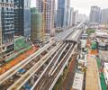地铁6号线建设稳步推进        6号线一期高架区间桥梁工程已累计完成99%。
