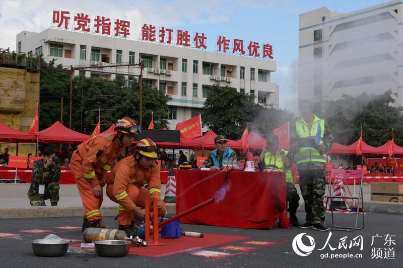 广东省消防总队举行装备比武竞赛