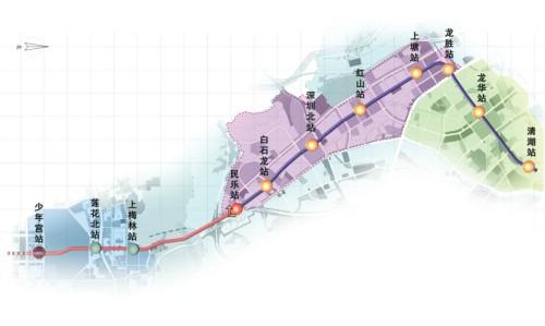 深圳地铁4号线线路图