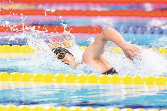 深圳籍游泳运动员汤慕涵个人取得全运会游泳第二金